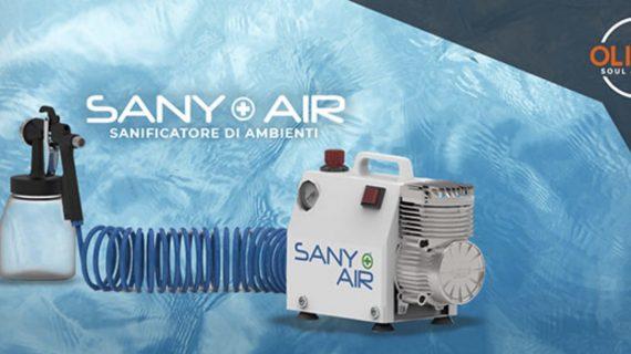 Sany+Air, Il tuo aiutante perfetto per sanificare i tuoi ambienti