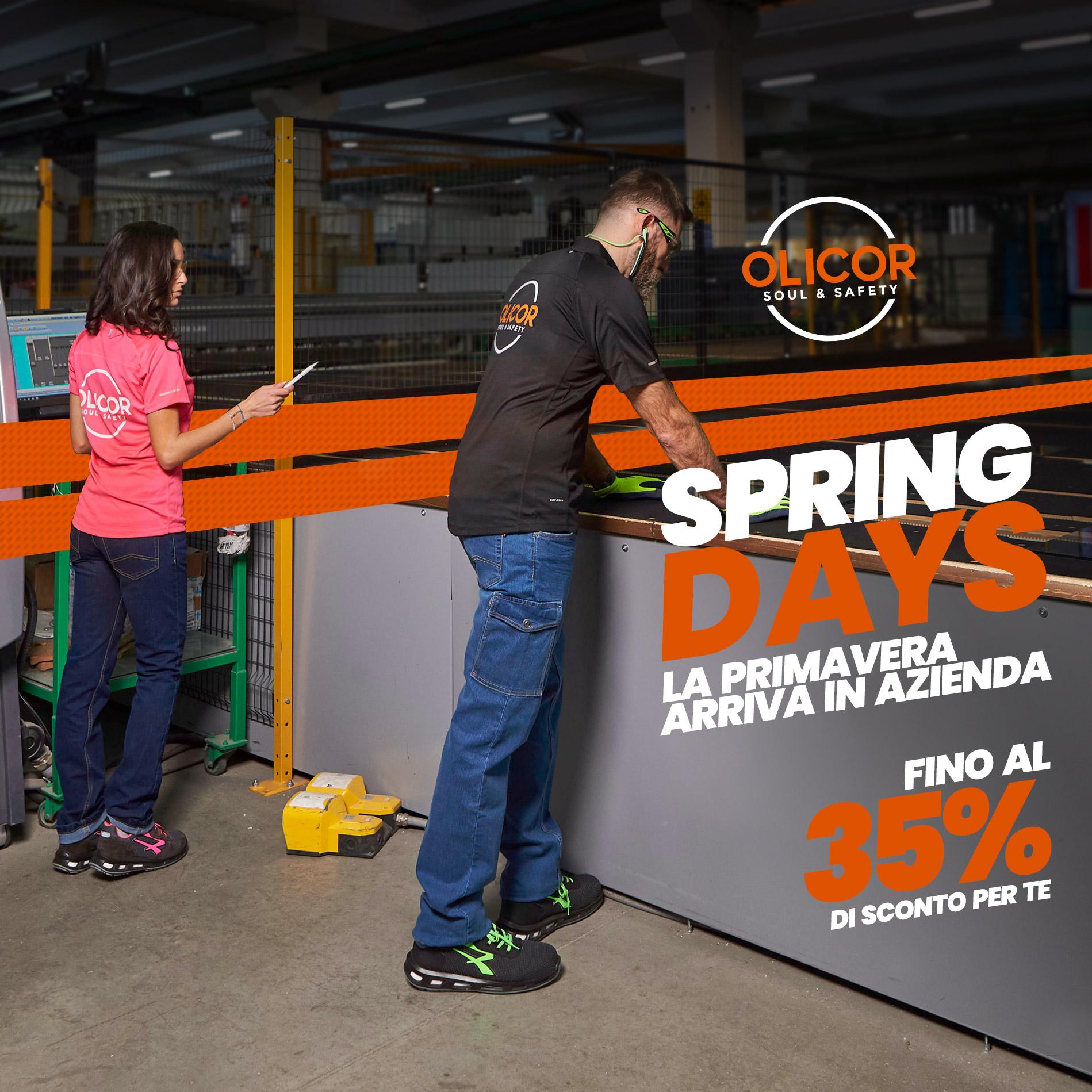 Nuova linea di abbigliamento Primavera Estate con sconti fino al 35%