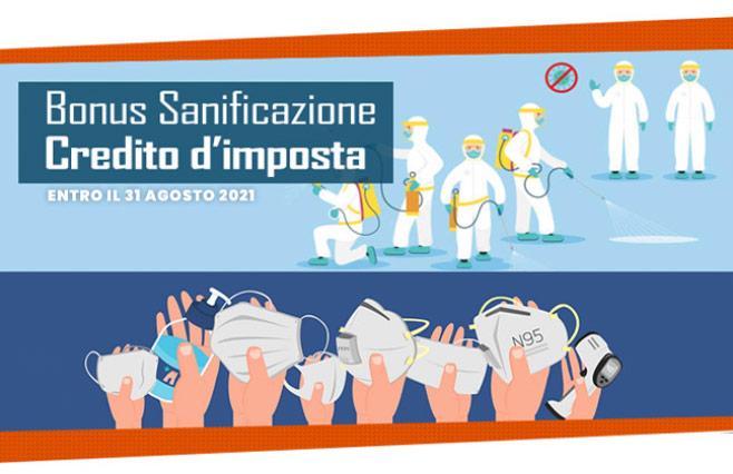 Approfitta del Credito di imposta sui nostri prodotti per la protezione e sanificazione.